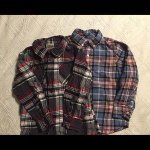 Smiths American/Gymboree plaid shirts